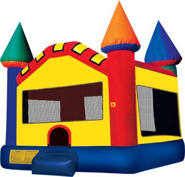 standard-inflatable-bounce-house-rental-colorful-castle